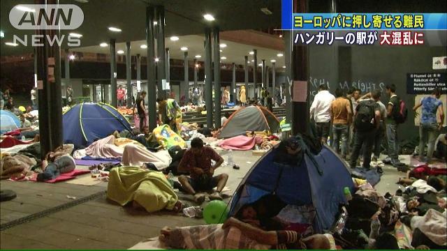 シリア難民ハンガリーで足止め