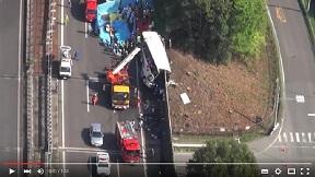 高速バス事故7人死亡 群馬・藤岡の関越道