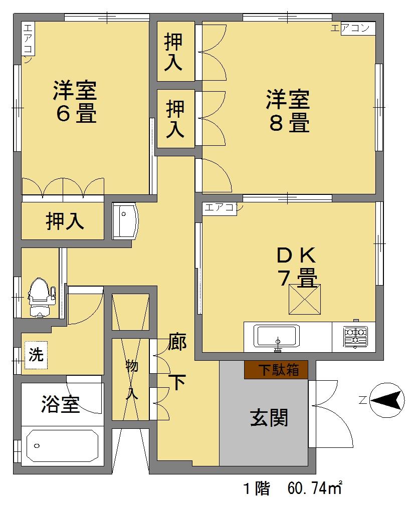水野邸1階間取図