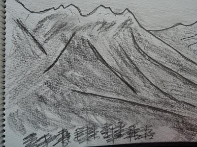 八が岳の絵