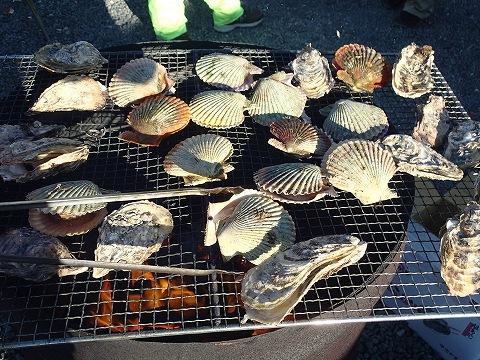 牡蠣とバタ貝