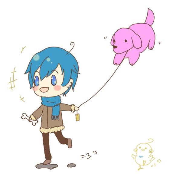 小犬と風船