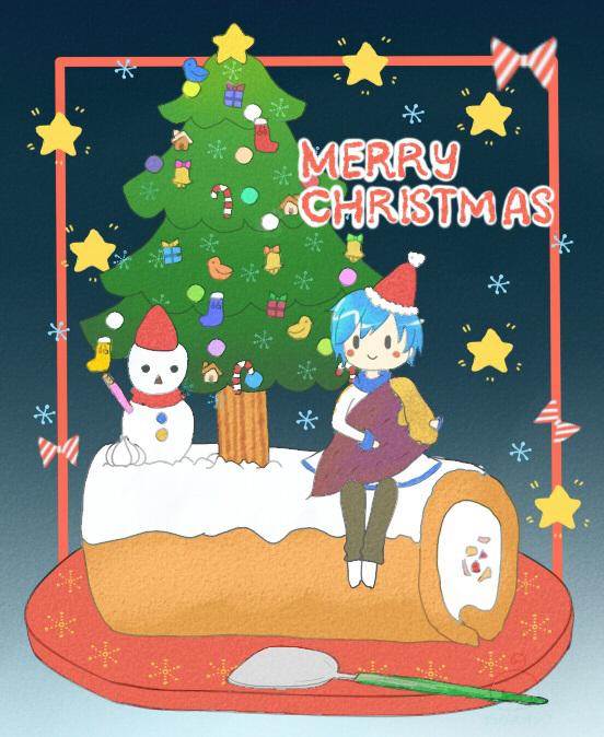 クリスマスとやき芋 夜