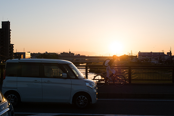 矢田川と橋