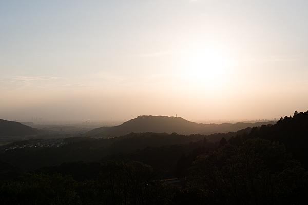 定光寺遠望所からの夕景
