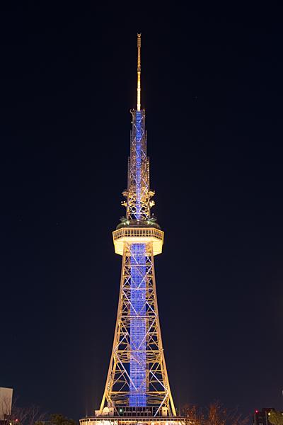 テレビ塔青色