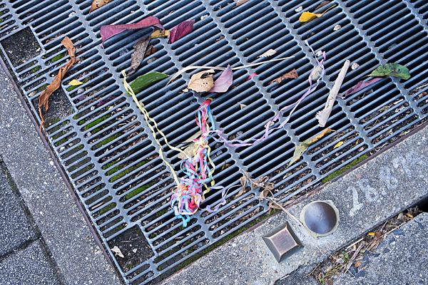 クラッカーの残骸
