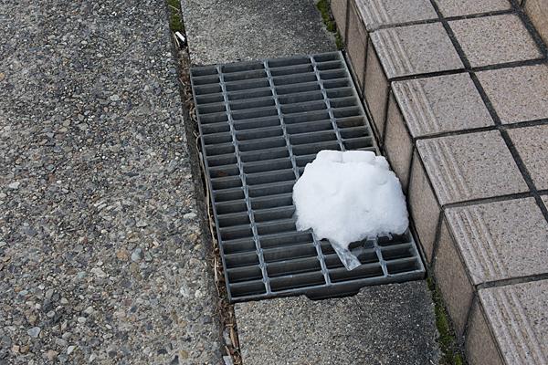 道ばたの氷