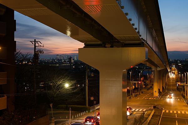 ゆとりーとライン夕暮れ風景