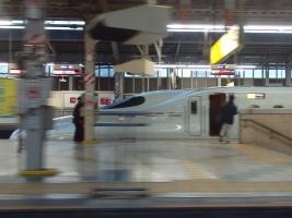 車両は何とN700系7000番台S7編成でした。