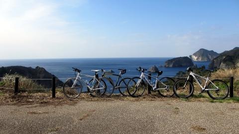 あいあい岬に到着~記念撮影@自転車