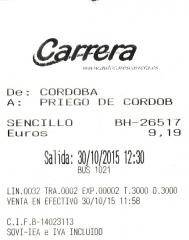 Cordoba-Priego autobus