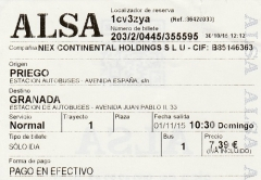 1294 Priego-Granada autobus