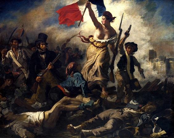 『民衆を導く自由の女神』(1830年、ウジェーヌ・ドラクロワ画)