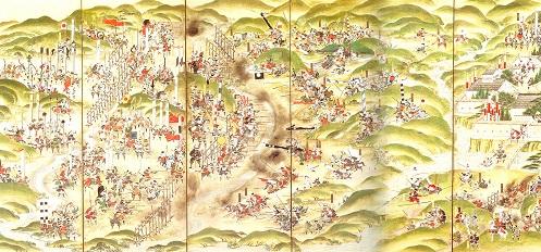 長篠合戦図屏風(徳川美術館蔵)
