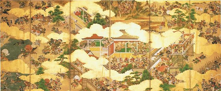 『源平合戦図屏風』赤間神宮所蔵