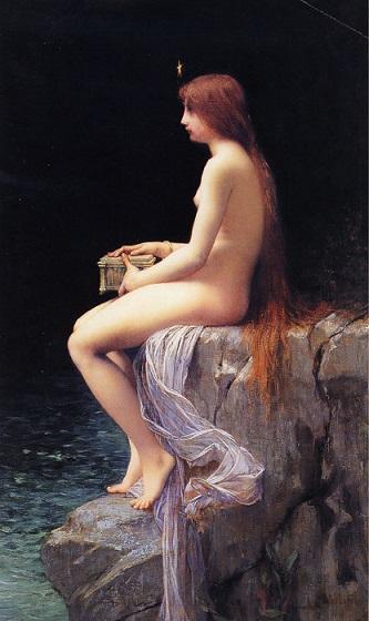 「パンドーラー」 ジュール・ジョゼフ・ルフェーブル (1882)