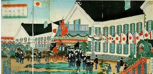東京第一大学区開成学校開業式之図(二代歌川国輝 明治6年)