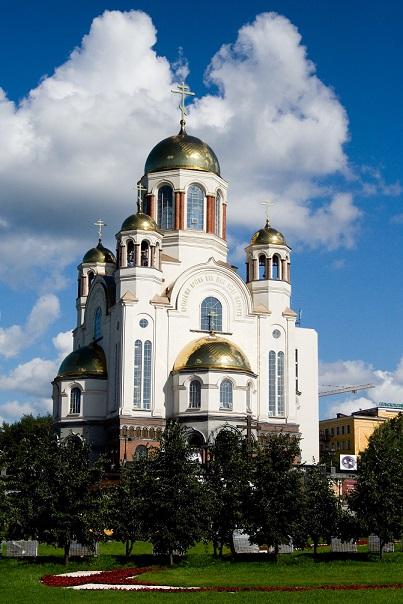 ソ連崩壊後にイパチェフ館の跡地に建てられた血の上の教会