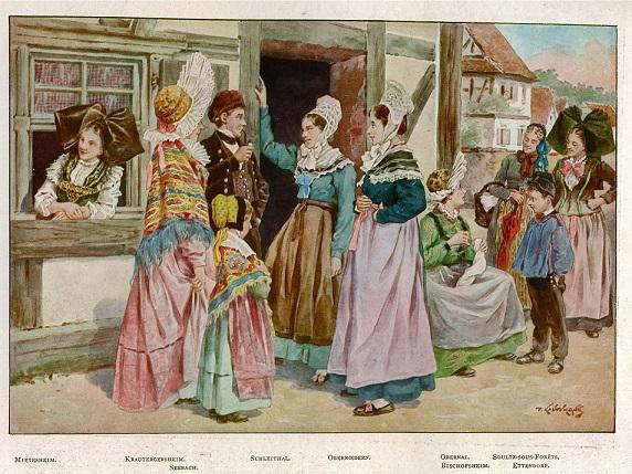 アルザスの伝統的な衣装
