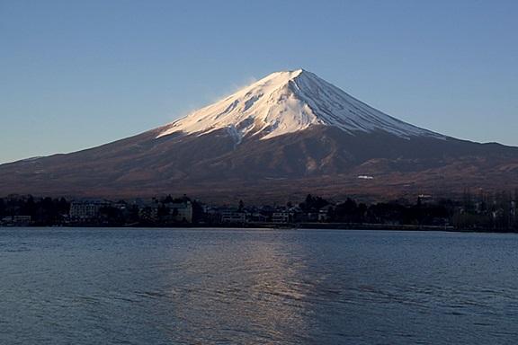 神体である霊峰富士