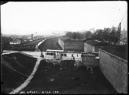 ポルト・ド・ヴェルサイユのティエールの堡塁(1913年)
