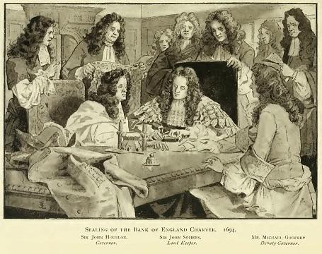 イングランド銀行憲章の調印(1694年)