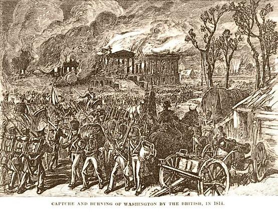 首都ワシントンの焼き討ち
