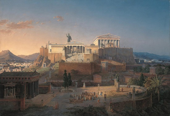 The Acropolis imagined in an 1846 painting by Leo von Klenze