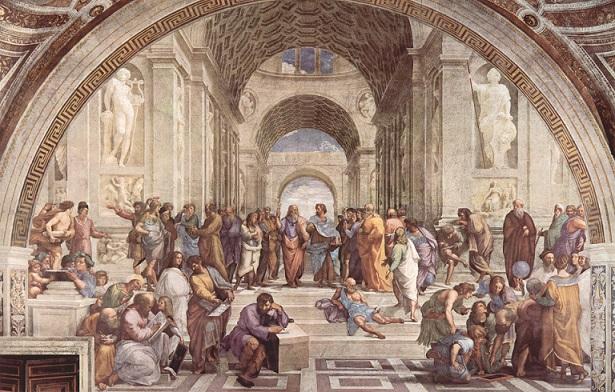 ラファエロ・サンティ 『アテナイの学堂』 1509年 - 1510年