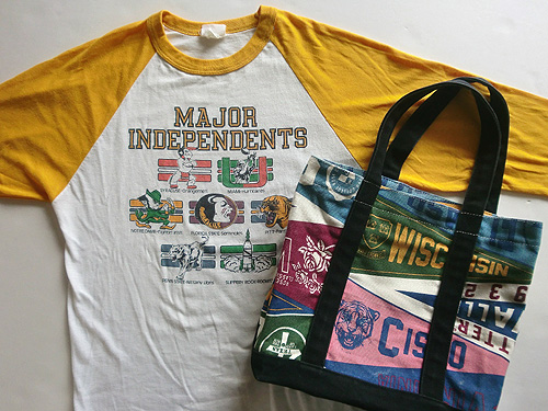 college t & tote bag