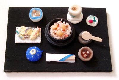 栗とシメジの釜飯定食