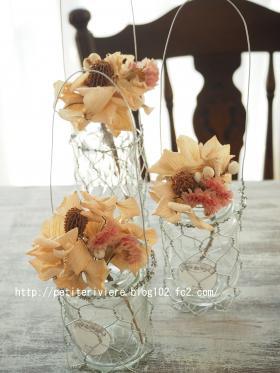 ガラスの吊り下げ花瓶
