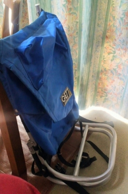 side view of the chair-bag