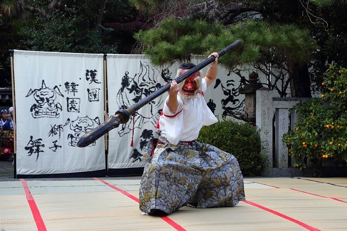 漢国神社 獅子舞1