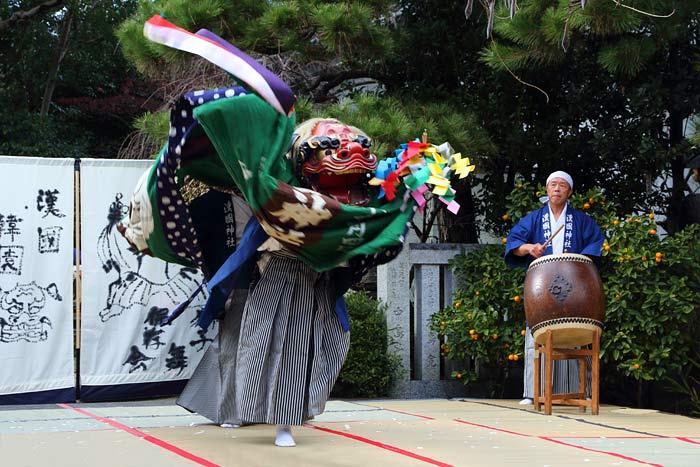 漢国神社 獅子舞2