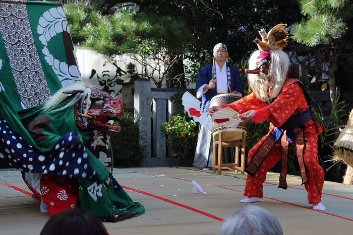 漢国神社 獅子舞4