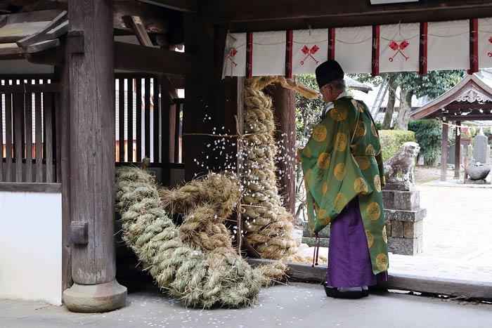 矢田坐久志玉比古神社 綱掛祭1