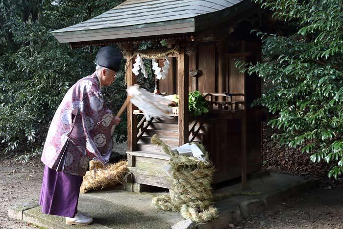 矢田坐久志玉比古神社 綱掛祭3