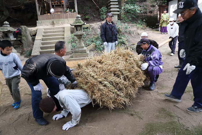 八坂神社 おんだ祭・綱かけ祭4