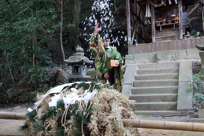 八坂神社 おんだ祭・綱かけ祭5