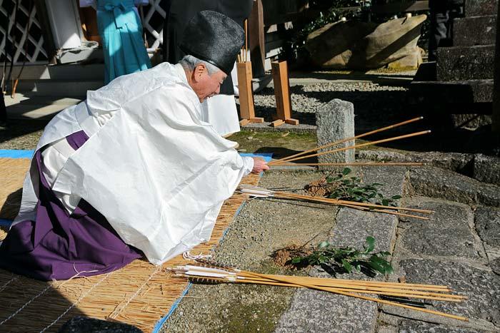 桃香野八幡神社 弓始祭2