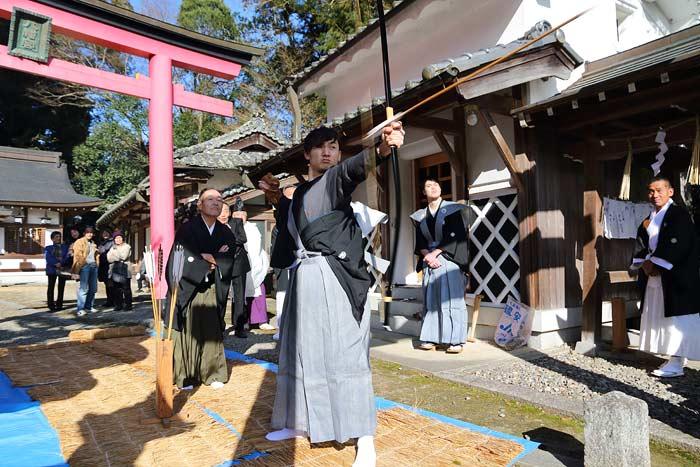 桃香野八幡神社 弓始祭3