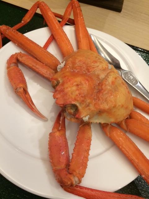 蟹をたくさん食べた