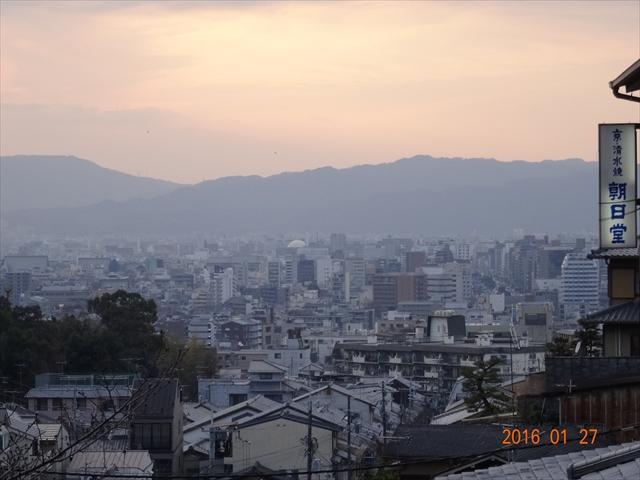 清水からの京都市街