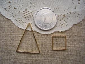 線形パーツ:二等辺三角形、正方形