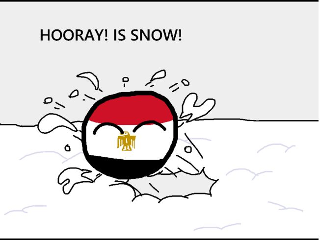 エジプトに雪が降ったよ (3)