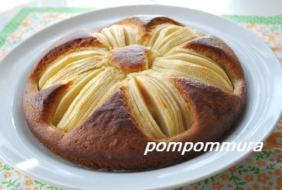 りんごのお花ケーキ1