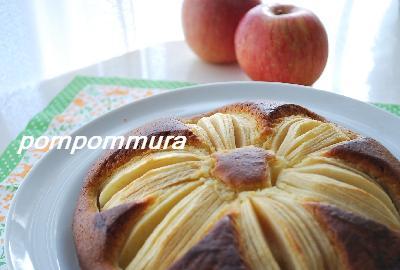 りんごのお花ケーキ2