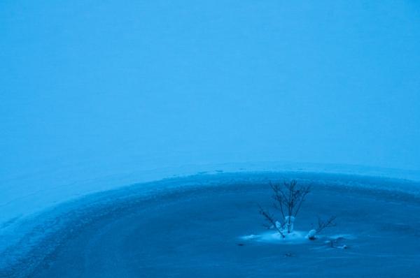 シューパロ湖氷もよう